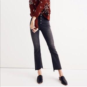 Madewell Cali Demi Boot Jeans Black 28S